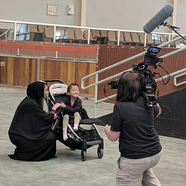Filming Young Hamda